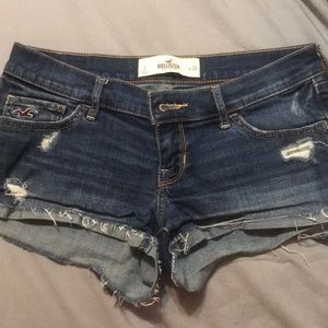 Distressed Hollister shorts.